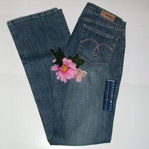 ❄️HP❄️PETROL 2 Boot Cut Jeans Crystal Embelish NWT